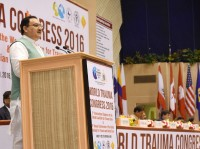 J P Nadda inaugurates 3rd World Trauma Congress